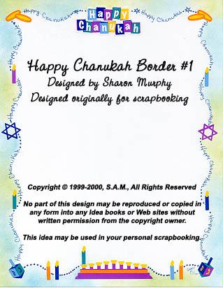 Happy Chanukah Border 1