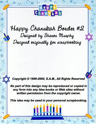 Happy Chanukah Border 2